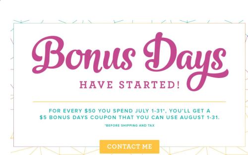 Bonus Days July 2017